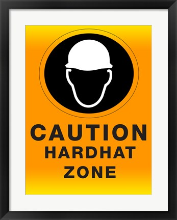 Framed Safety Hard Hat Print