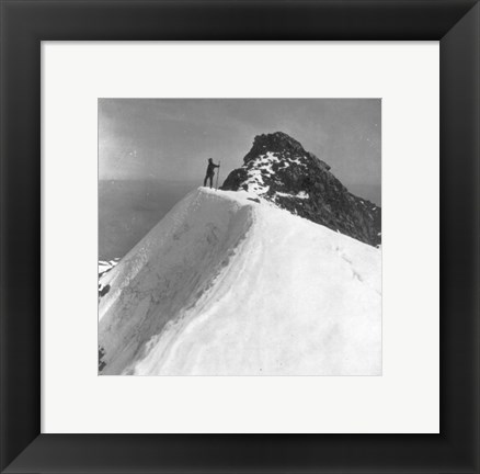 Framed Washington - Mount Rainier Top of Gibralter Rock Print