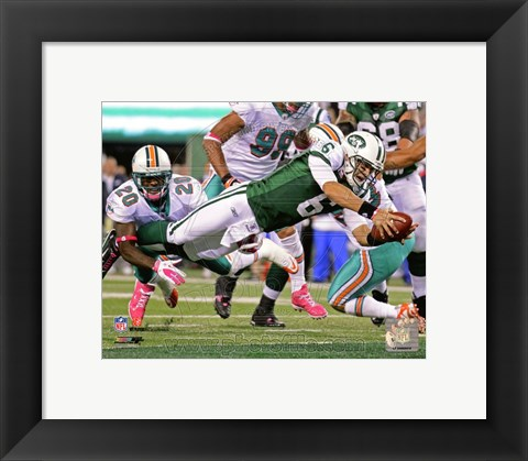 Framed Mark Sanchez 2011 Action Print