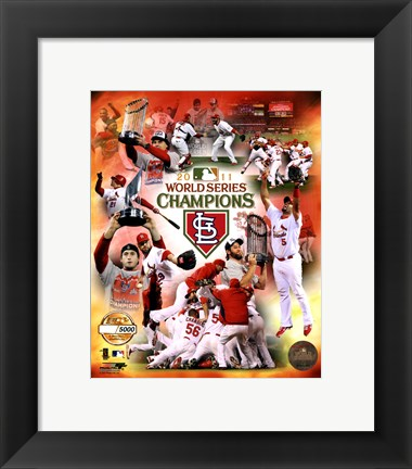 Framed St. Louis Cardinals 2011 World Series Champions PF Gold Composite Print