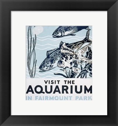 Framed Visit the aquarium in Fairmount Park Print