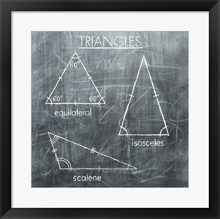 Framed Triangles Print