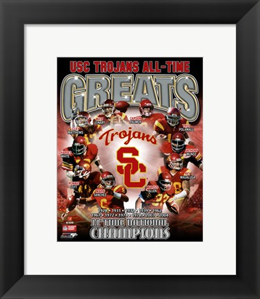 Framed USC Trojans All Time Greats Composite Print