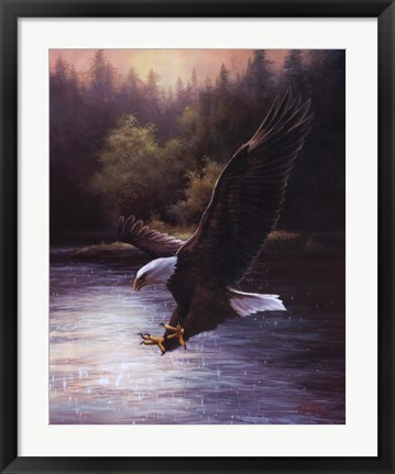 Framed Eagle Prey Print