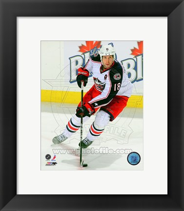 Framed R.J. Umberger 2011-12 Action Print