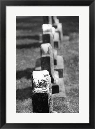 Framed Rows of Stone Print