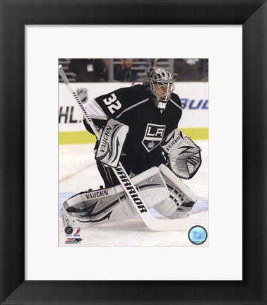 Framed Jonathan Quick 2011-12 Action Print