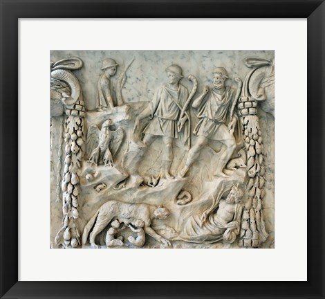 Framed Altar of Mars and Venus - Aphrodite and Ares Print