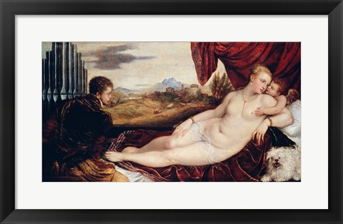 Framed Venus with the Organ Player Print