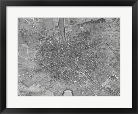 Framed Plan de Turgot Print