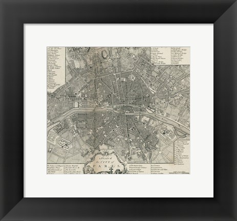 Framed Plan Paris Stockdale Print
