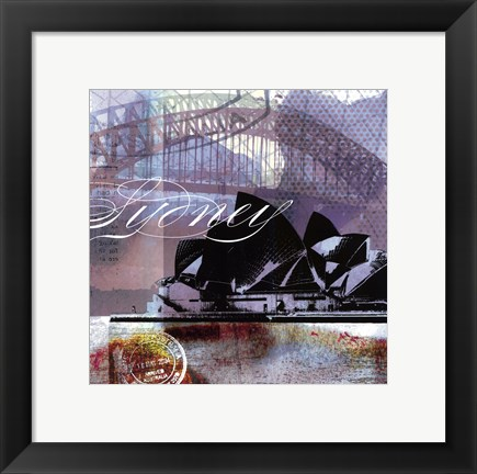 Framed Sydney Stamps - Mini Print