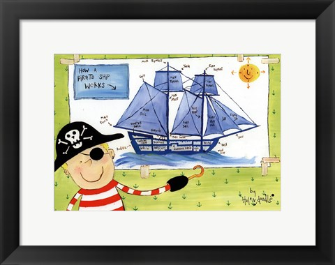 Framed How a Pirate Ship Works Print