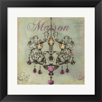 Framed Maison-  mini Print