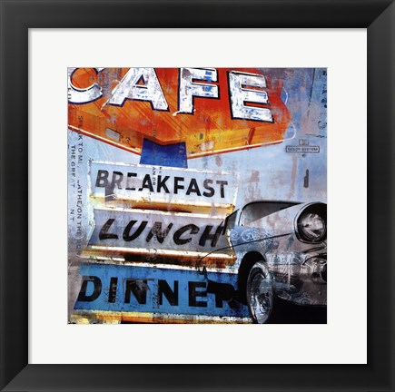 Framed Breakfast Cafe - mini Print