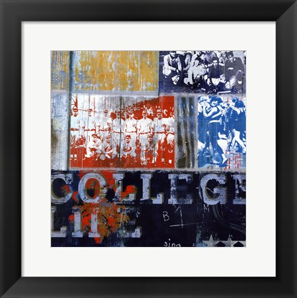 Framed College Life - mini Print