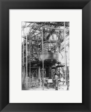 Framed Gondola of New Zeppelin for Pilot and Passengers Print