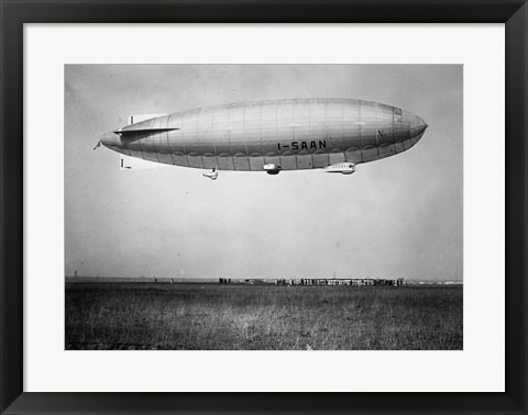 Framed Amundsen Blimp Air Ship I - SAAN Print