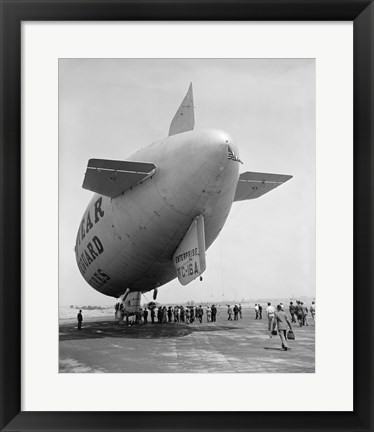 Framed Goodyear Blimp Print