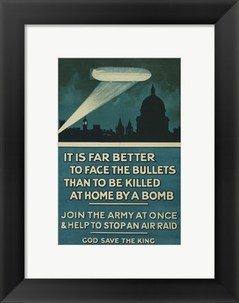 Framed Join The Army Print