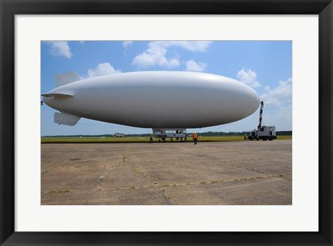 Framed US Navy Coast Guard Blimp Print