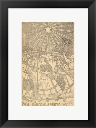 Framed Dawn of a New Day in the Fields of Bethlehem Print