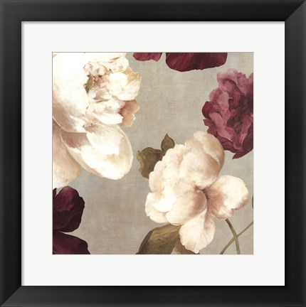 Framed Deep Peonies I - mini Print