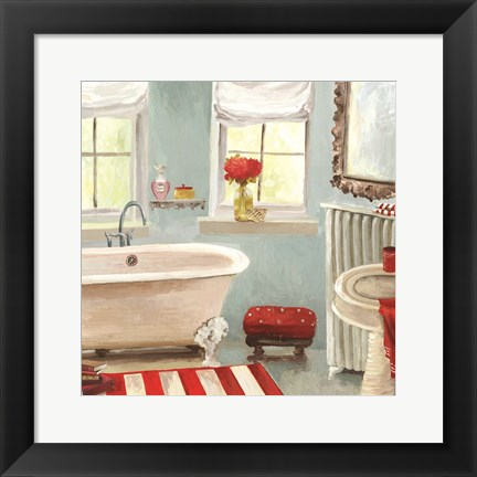 Framed Tranquil Bath II - mini Print