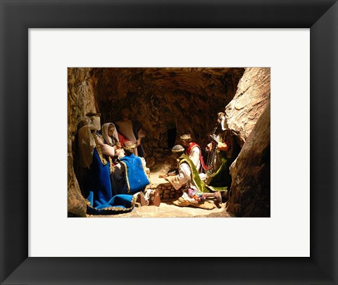 Framed Nativity Adoration of the Magi Print