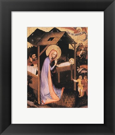 Framed Adoration of Jesus Print
