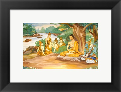 Framed Ascetic Bodhisatta Gotama with the Group of Five Print