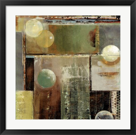 Framed Ice & bubbles II Print