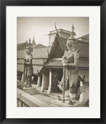 Framed Temple of the Emerald Buddha Bangkok Print