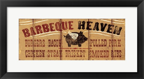 Framed Barbeque Heaven Print