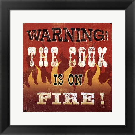 Framed cook is on fire Print