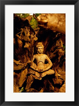 Framed Close-up of a statue of Buddha, Muang Boran, Samut Prakan, Thailand Print