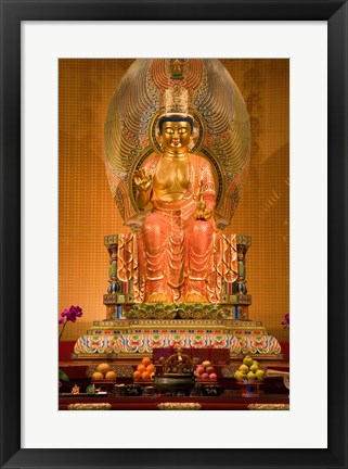 Framed Statue of Buddha in a Temple Print