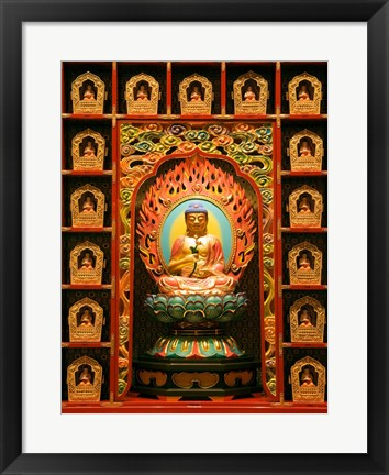 Framed Buddha Tooth Relic Temple and Museum, Chinatown, Singapore Print