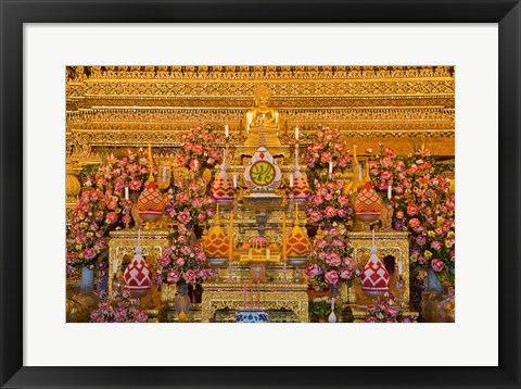 Framed Statue of Buddha in a Temple,  Bangkok, Thailand Print