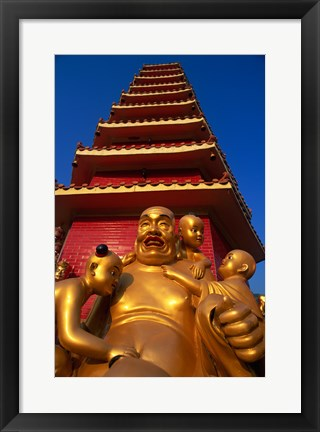 Framed Laughing Buddha Print