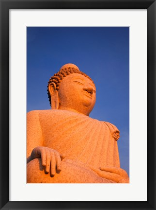 Framed Big Buddha of Phuket Statue Print