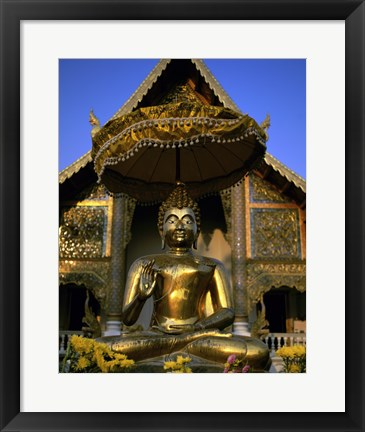 Framed Statue of Buddha, Wat Phra Sing, Chiang Mai Province, Thailand Print