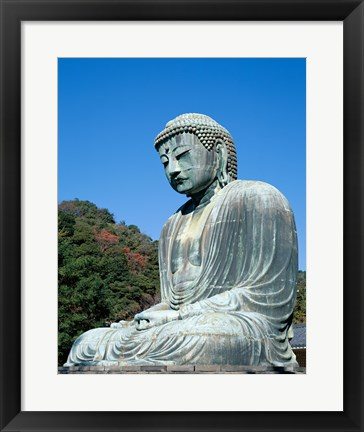 Framed Daibutsu Great Buddha, Kamakura, Honshu, Japan Side View Print