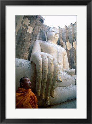 Framed Close-up of the Seated Buddha, Wat Si Chum, Sukhothai, Thailand Print