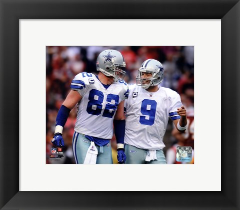 Framed Jason Witten & Tony Romo 2011 Action Print
