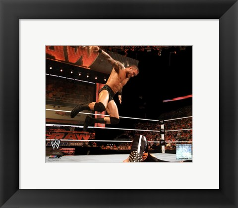 Framed Randy Orton 2011 Action Print
