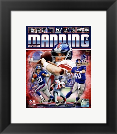 Framed Eli Manning 2011 Portrait Plus Print