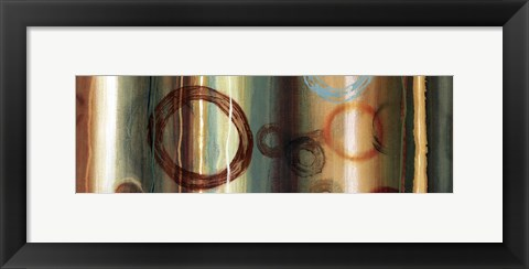 Framed Ombre Circles II - mini Print