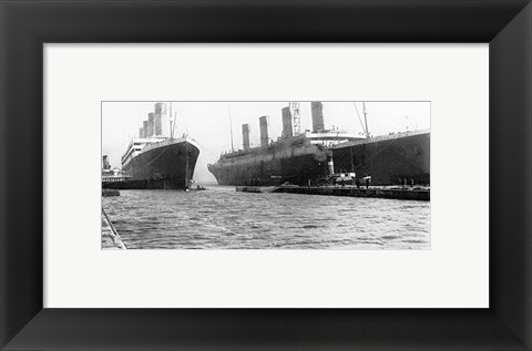 Framed Olympic and Titanic Print