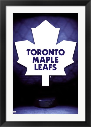 Framed Maple Leafs® - Logo 09 Print